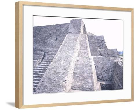 The Pyramid of Tenayuca--Framed Art Print