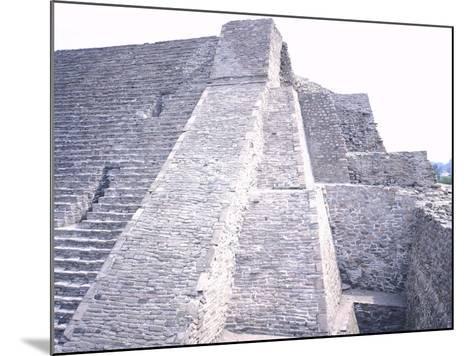 The Pyramid of Tenayuca--Mounted Giclee Print