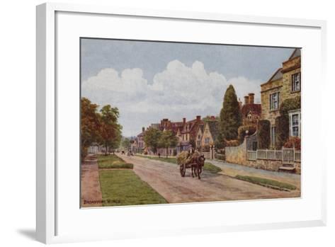 Broadway, Worcestershire-Alfred Robert Quinton-Framed Art Print