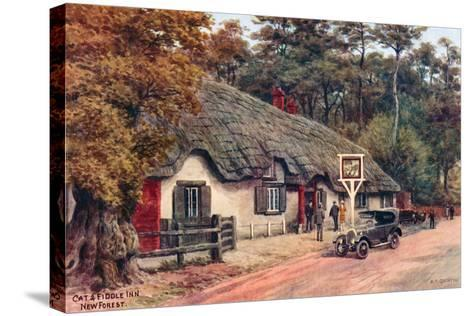Cat and Fiddle Inn, New Forest-Alfred Robert Quinton-Stretched Canvas Print