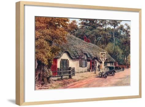 Cat and Fiddle Inn, New Forest-Alfred Robert Quinton-Framed Art Print