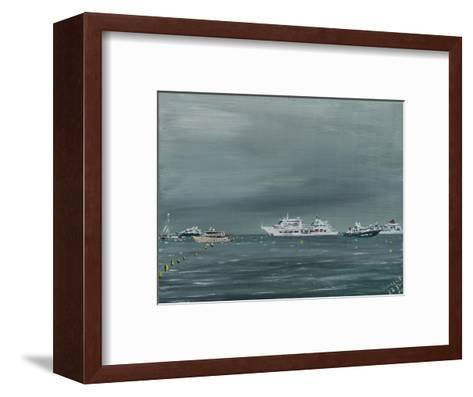 Ships and Boats at Cannes 2014-Vincent Alexander Booth-Framed Art Print