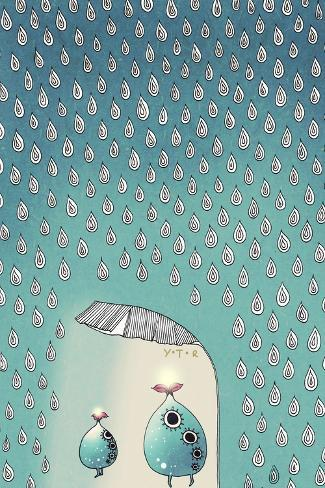 April Shower, 2012-Yoyo Zhao-Stretched Canvas Print