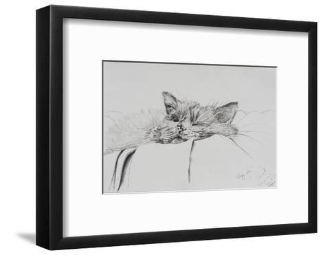 Monty, Sleepy Boy-Vincent Alexander Booth-Framed Art Print