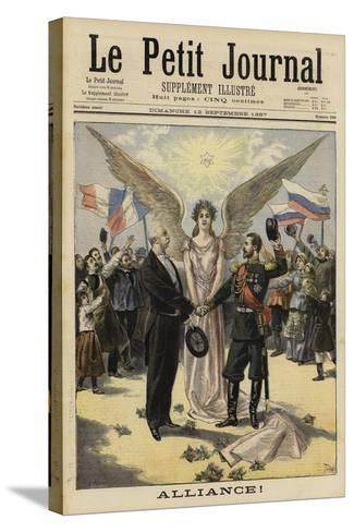 Alliance Between France and Russia, 1897--Stretched Canvas Print