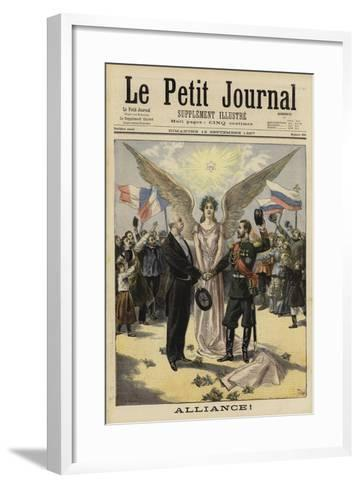 Alliance Between France and Russia, 1897--Framed Art Print