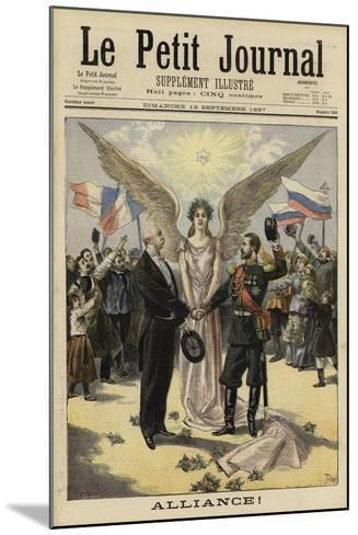 Alliance Between France and Russia, 1897--Mounted Giclee Print