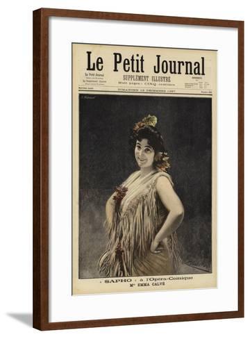 Emma Calve in Sappho at the Opera-Comique, Paris--Framed Art Print