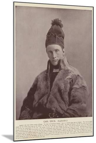 Garl Erick, Laplander--Mounted Photographic Print