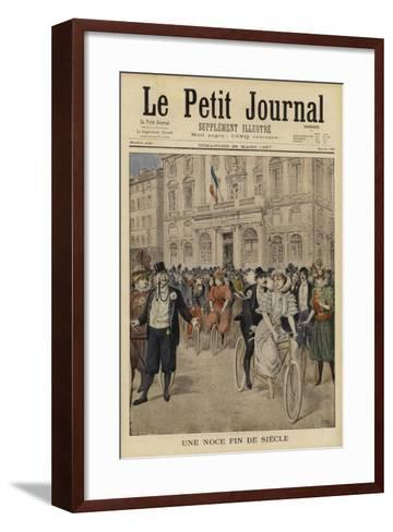 A Fin De Siecle Wedding, France--Framed Art Print