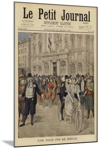 A Fin De Siecle Wedding, France--Mounted Giclee Print