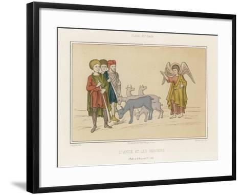 The Angel and the Shepherds--Framed Art Print