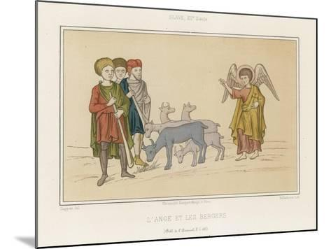 The Angel and the Shepherds--Mounted Giclee Print