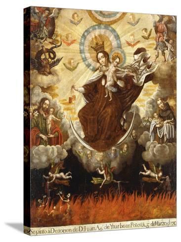 Virgin of the Carmelites, 1761-Gaspar Miguel de Berrio-Stretched Canvas Print