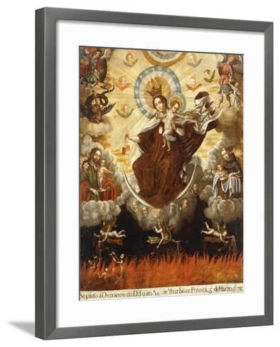 Virgin of the Carmelites, 1761-Gaspar Miguel de Berrio-Framed Art Print