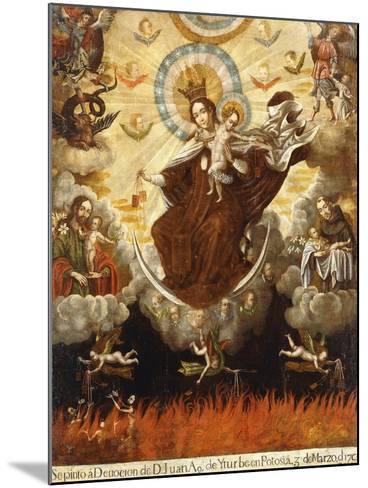 Virgin of the Carmelites, 1761-Gaspar Miguel de Berrio-Mounted Giclee Print