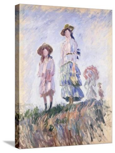 Promenade-Claude Monet-Stretched Canvas Print