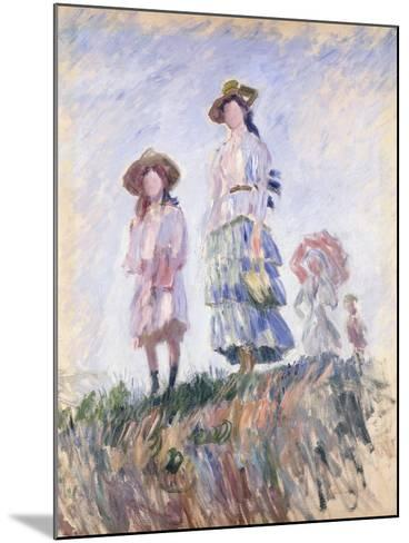 Promenade-Claude Monet-Mounted Giclee Print