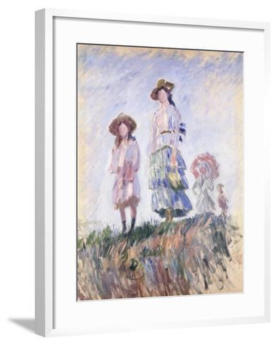 Promenade-Claude Monet-Framed Art Print