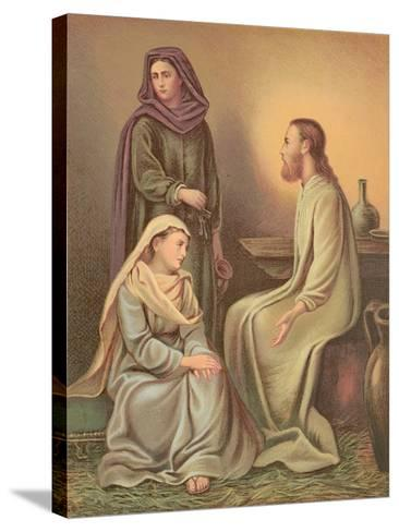 Jesus Christ in the House of Martha and Mary--Stretched Canvas Print