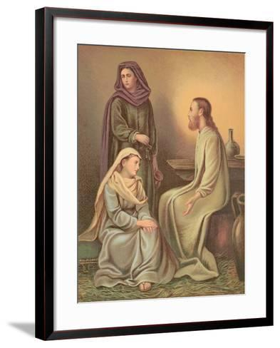 Jesus Christ in the House of Martha and Mary--Framed Art Print