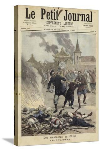 Cover of Le Petit Journal, 19 December 1891--Stretched Canvas Print