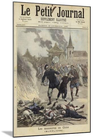 Cover of Le Petit Journal, 19 December 1891--Mounted Giclee Print