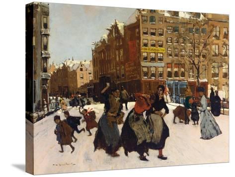 Winter in Amsterdam, C.1898-Georg-Hendrik Breitner-Stretched Canvas Print