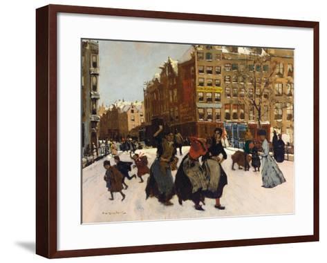 Winter in Amsterdam, C.1898-Georg-Hendrik Breitner-Framed Art Print