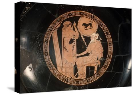 Attica Red Figured Kylix--Stretched Canvas Print