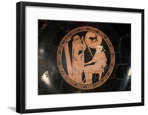 Attica Red Figured Kylix--Framed Art Print