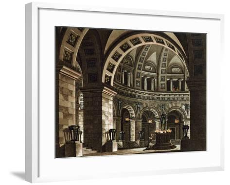 Set Design for La Vestale--Framed Art Print