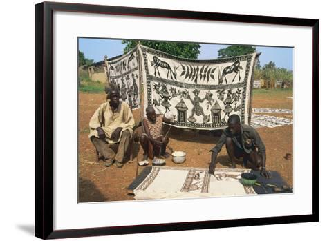 Artisan Painting a Cloth--Framed Art Print