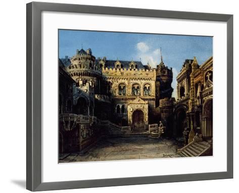 Town of Antwerpen, Set Design-Max Bruckner-Framed Art Print