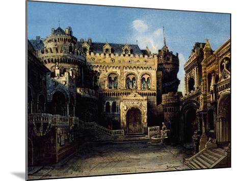 Town of Antwerpen, Set Design-Max Bruckner-Mounted Giclee Print