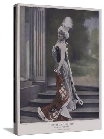 Jeanne Saulier, French Actress, as Commerce--Stretched Canvas Print