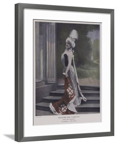 Jeanne Saulier, French Actress, as Commerce--Framed Art Print