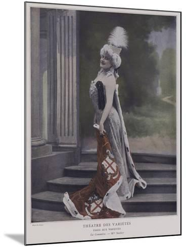 Jeanne Saulier, French Actress, as Commerce--Mounted Giclee Print
