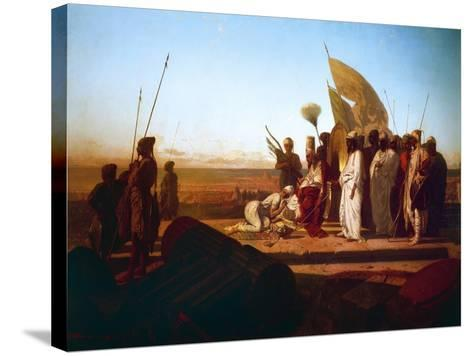 Xerxes at Hellespont-Jean Adrien Guignet-Stretched Canvas Print