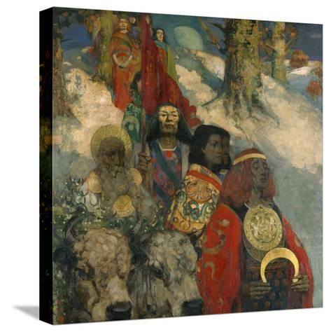 The Druids - Bringing in the Mistletoe, 1890--Stretched Canvas Print