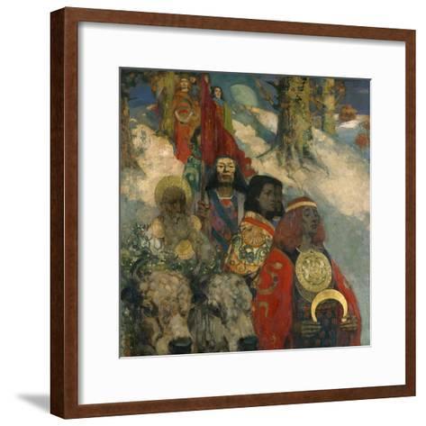 The Druids - Bringing in the Mistletoe, 1890--Framed Art Print