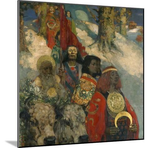 The Druids - Bringing in the Mistletoe, 1890--Mounted Giclee Print