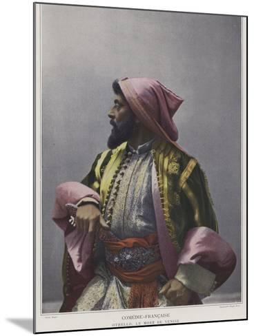 Mounet-Sully in the Title Role in Othello--Mounted Photographic Print