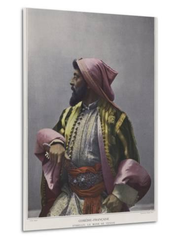 Mounet-Sully in the Title Role in Othello--Metal Print