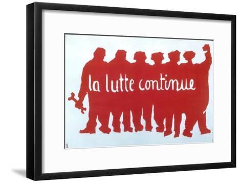 Poster from the Student Revolt in Paris, 1968--Framed Art Print
