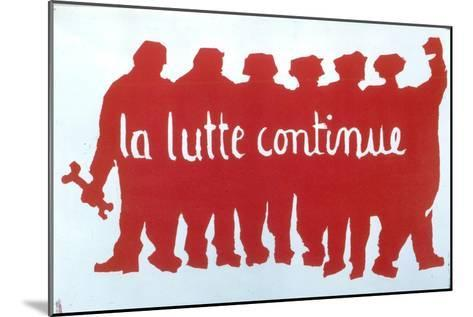 Poster from the Student Revolt in Paris, 1968--Mounted Giclee Print