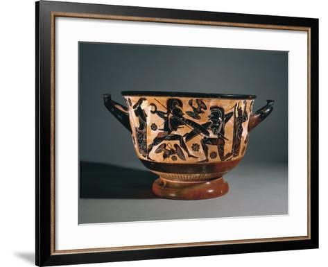 Calcidian Skyphos--Framed Art Print
