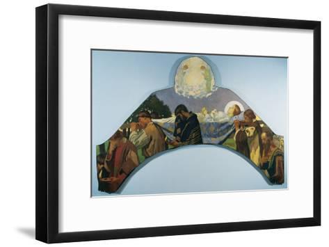 Death of Virgin Mary-Juan Llimona y Bruguera-Framed Art Print
