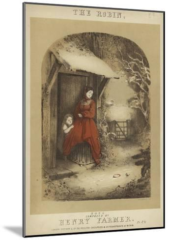 Cover of the Robin--Mounted Giclee Print