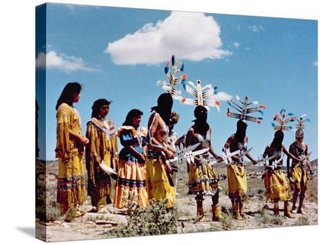 Apache Gahe Dancers--Stretched Canvas Print